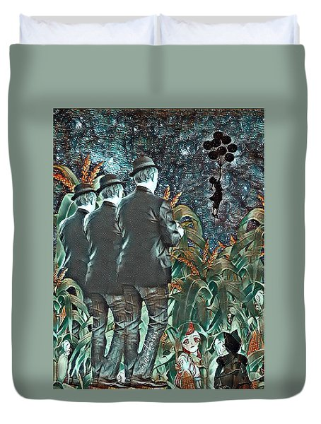 Elite Hide And Seek Duvet Cover by Vennie Kocsis