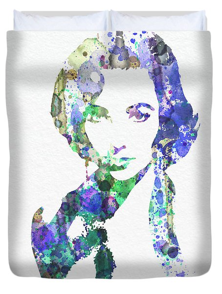 Elithabeth Taylor Duvet Cover by Naxart Studio