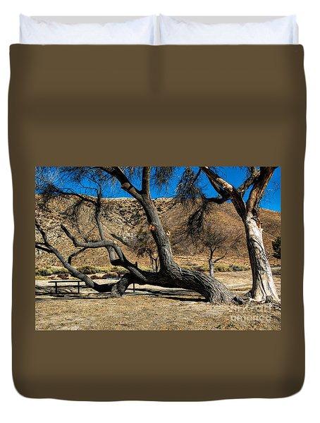 Elizabeth Lake Tree Duvet Cover