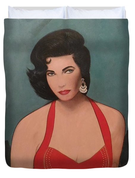 Elizabeth Taylor - Absolutely Beautiful Duvet Cover