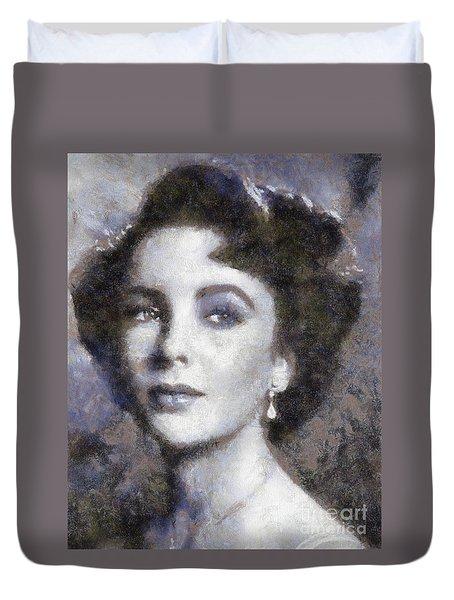Elizabeth Taylor By Sarah Kirk Duvet Cover