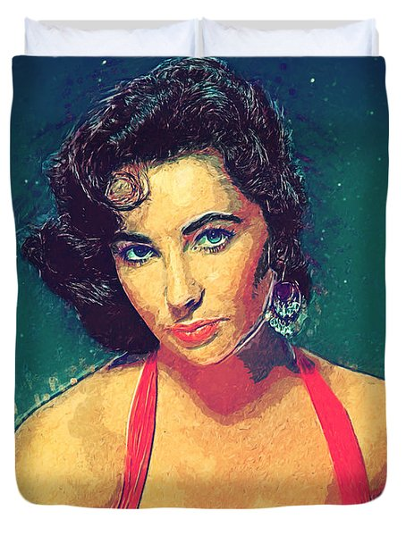 Elizabeth Taylor Duvet Cover by Taylan Apukovska