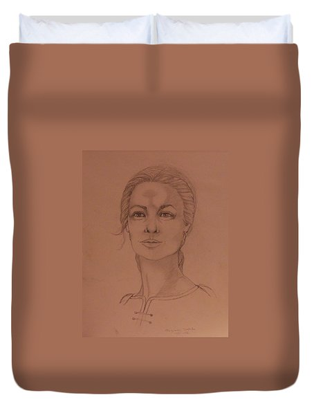 Elizabeth The White Queen Duvet Cover