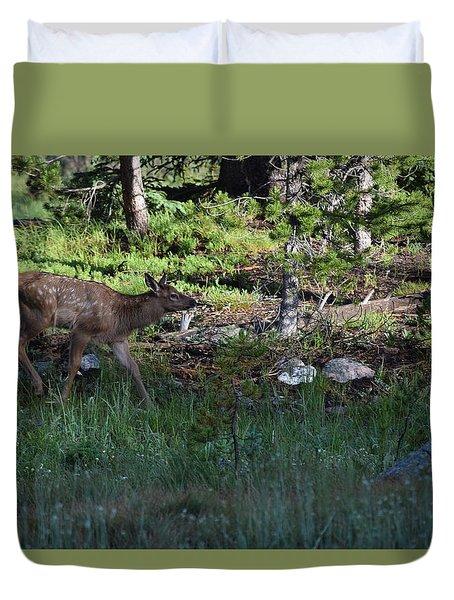 Baby Elk Rmnp Co Duvet Cover