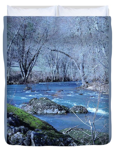 Duvet Cover featuring the photograph Elk Creek Wonderland by Marie Neder
