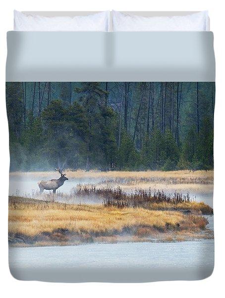 Elk Crossing Duvet Cover