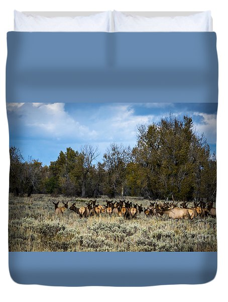 Elk Family Duvet Cover