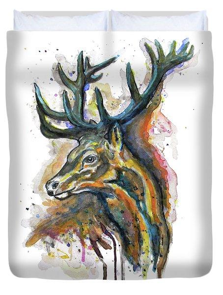 Elk Head Duvet Cover