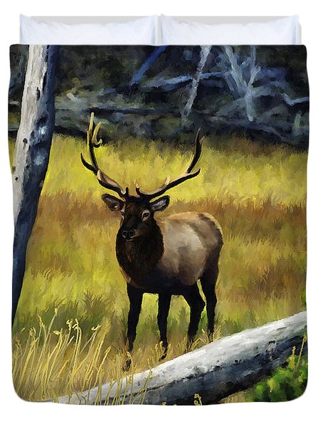 Elk In The Woods Duvet Cover