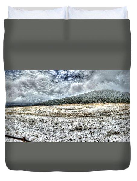 Elk Meado Pano Duvet Cover