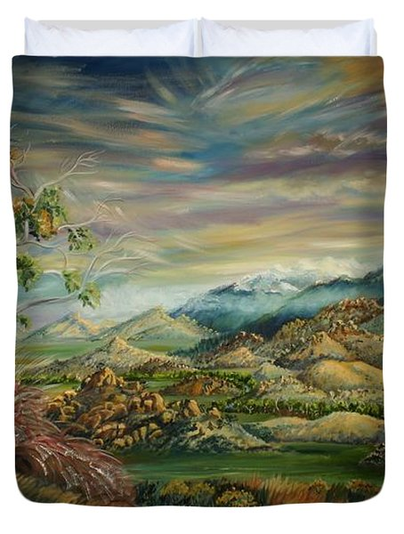Elk Mountain Sunrise Duvet Cover