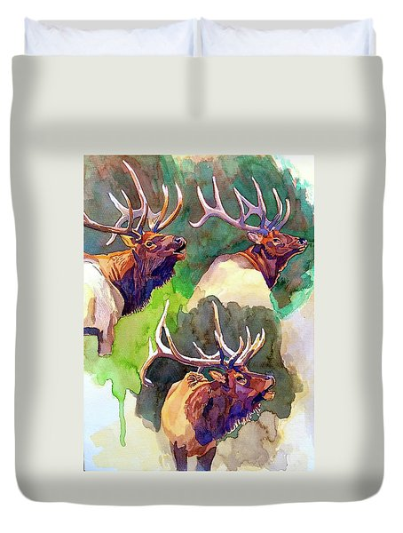 Elk Studies Duvet Cover