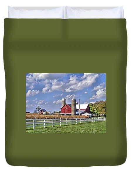 Elkhart County Farm Duvet Cover