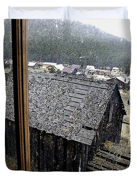 Elkhorn Snowfall Duvet Cover