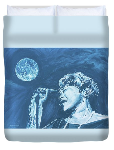 Ella Singing 'blue Moon' Duvet Cover