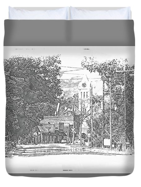 Duvet Cover featuring the photograph Ellaville, Ga - 1 by Jerry Battle