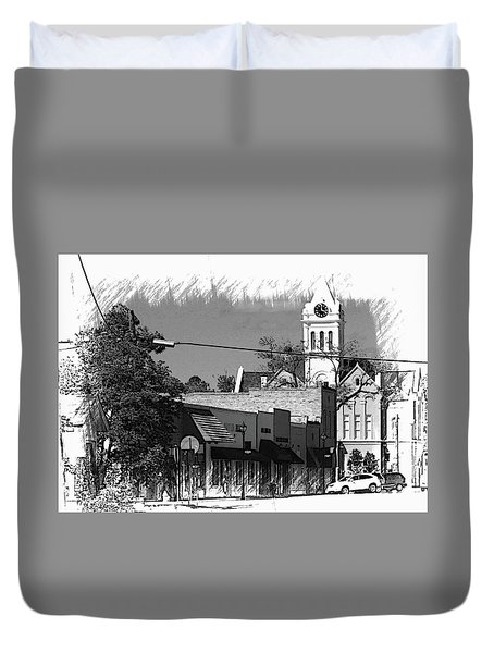 Duvet Cover featuring the photograph Ellaville, Ga - 3 by Jerry Battle