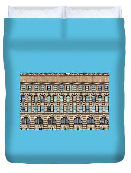 Ellicott Square Building Buffalo Ny Ink Sketch Effect Duvet Cover