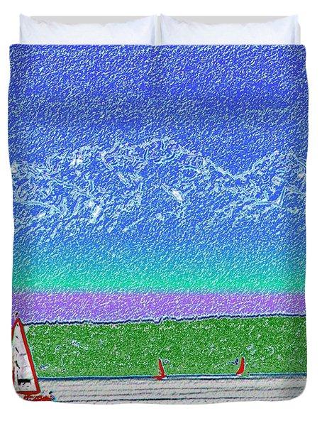 Elliott Bay Sail Duvet Cover by Tim Allen