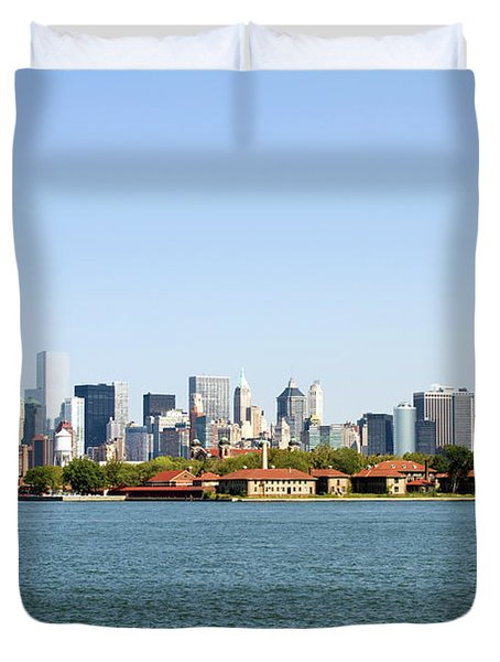 Ellis Island New York City Duvet Cover
