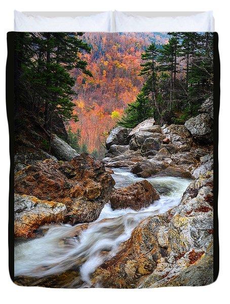 Ellis River Autumn View Duvet Cover by Michael Hubley