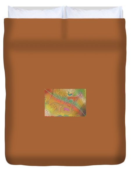 Duvet Cover featuring the digital art Elly - Gerry by Marti McGinnis