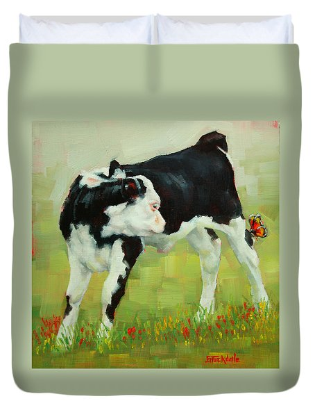 Elly The Calf And Friend Duvet Cover
