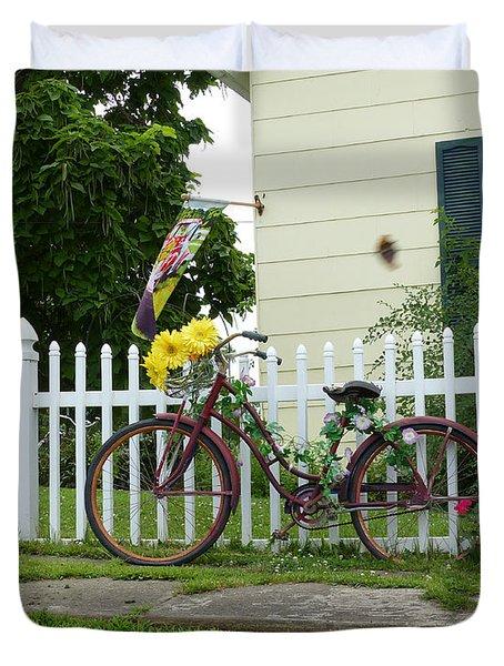Elmer Bicycle Duvet Cover