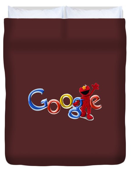 Elmo Google T-shirt Duvet Cover by Herb Strobino