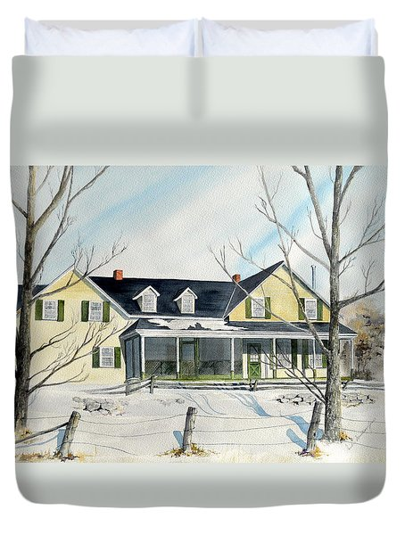 Elmridge Farm House Duvet Cover by Jackie Mueller-Jones