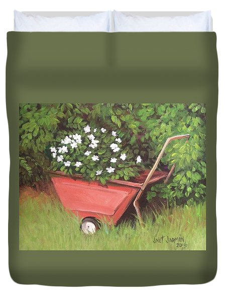 Eloise's Garden Cart Duvet Cover