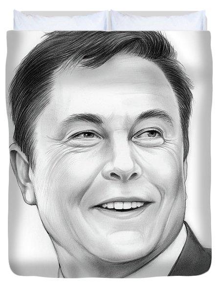 Elon Musk Duvet Cover