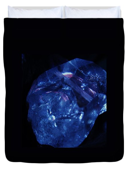 Elongated Crystal Skull Duvet Cover