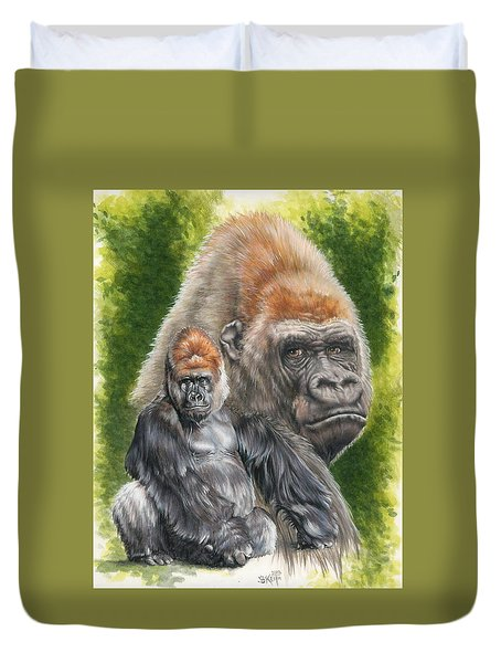 Duvet Cover featuring the painting Eloquent by Barbara Keith