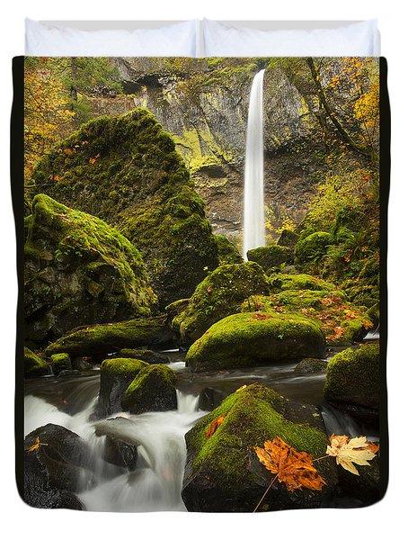 Elowah Autumn Duvet Cover by Mike  Dawson