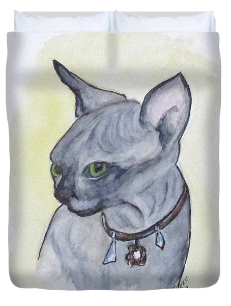 Else The Sphynx Kitten Duvet Cover