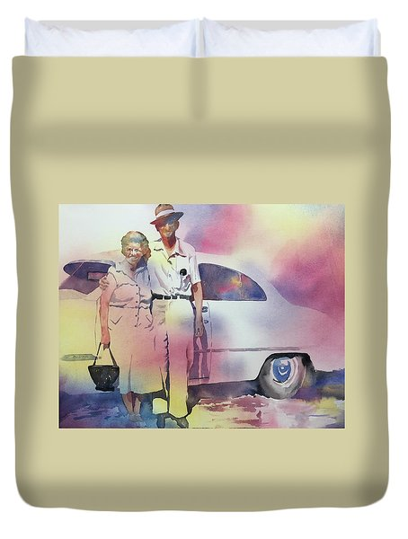 Elsie And Barney Shields Duvet Cover