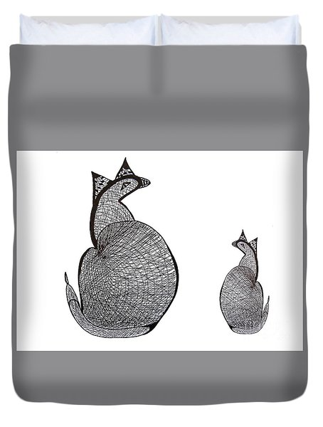 Elsie And Child, Mother And Child Duvet Cover