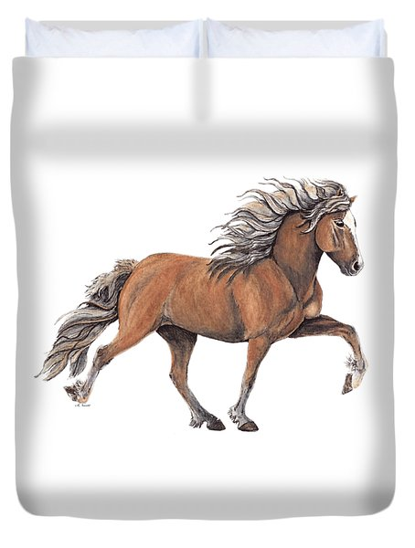 Duvet Cover featuring the painting Elska by Shari Nees