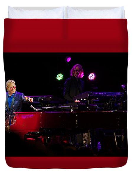 Elton - Enjoying The Show Duvet Cover