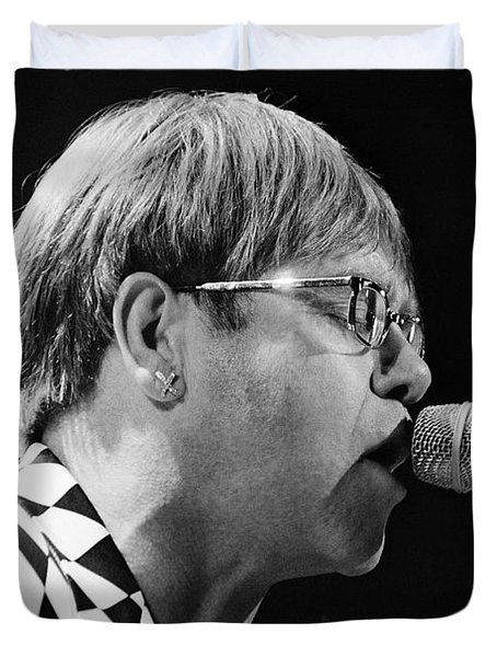Elton John-0143 Duvet Cover by Gary Gingrich Galleries