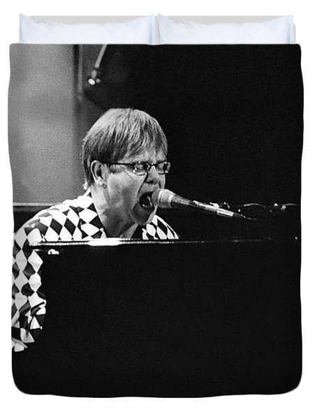 Elton John-0147 Duvet Cover by Gary Gingrich Galleries