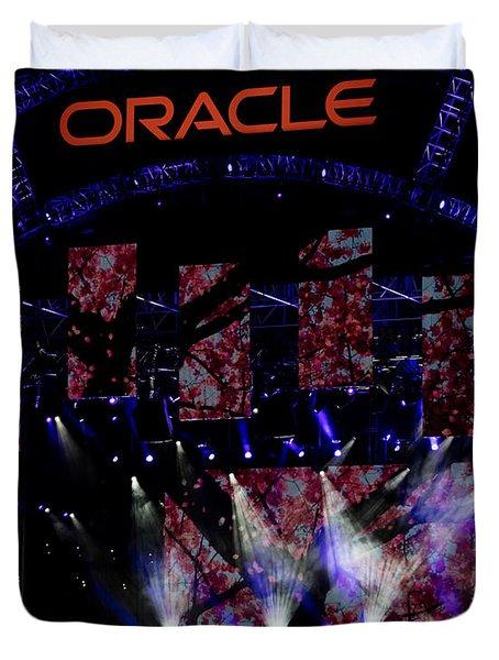 Elton John At Oracle Open World In 2015 Duvet Cover