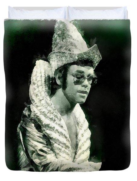 Elton John By John Springfield Duvet Cover by John Springfield