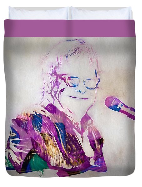Elton John Duvet Cover by Dan Sproul