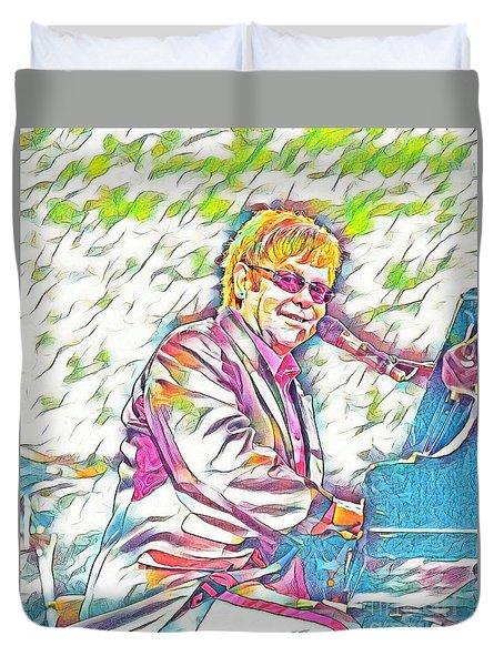 Elton John Rainbow Colors Duvet Cover