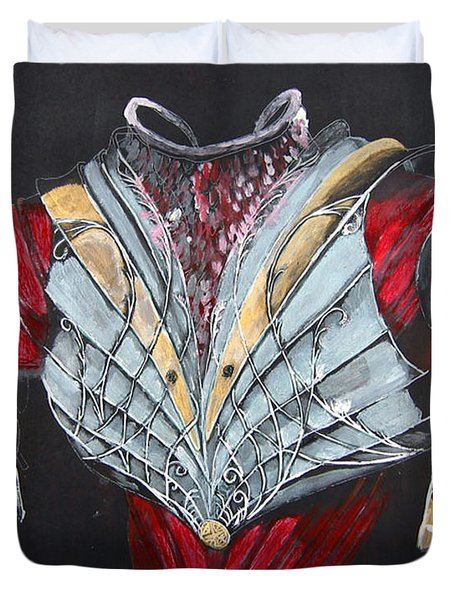 Duvet Cover featuring the painting Elven Armor by Richard Le Page