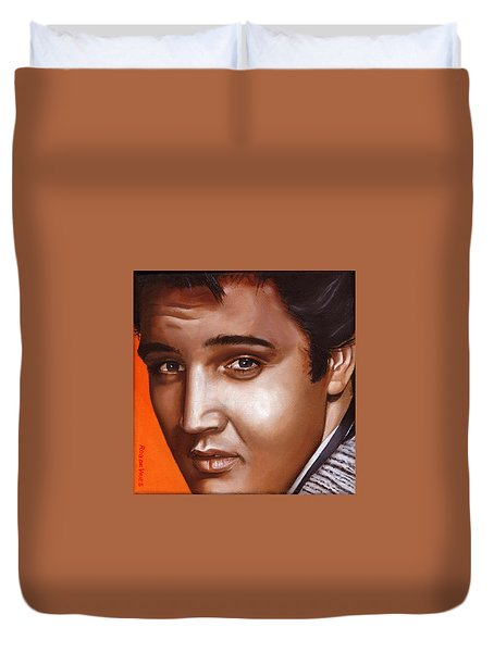 Elvis 24 1957 Duvet Cover by Rob De Vries