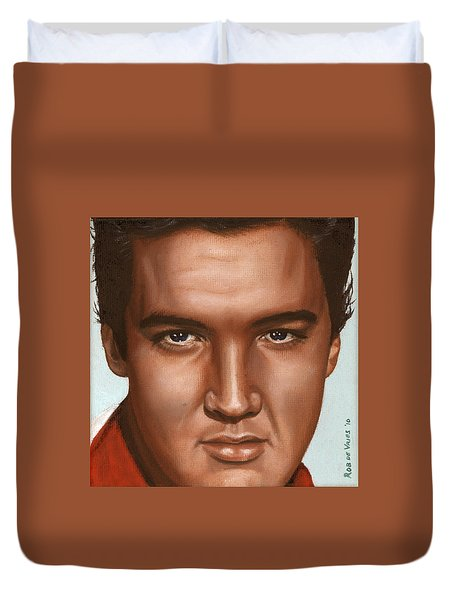 Elvis 24 1958 Duvet Cover by Rob De Vries