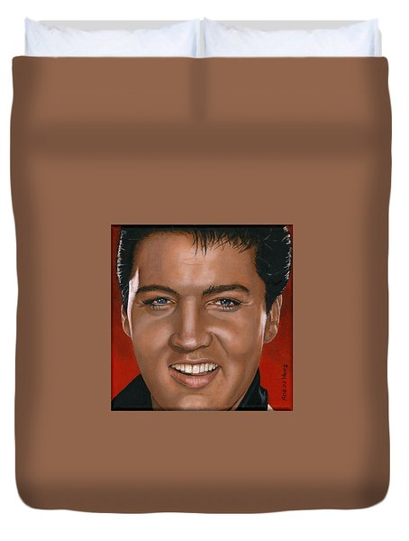 Elvis 24 1964 Duvet Cover by Rob De Vries